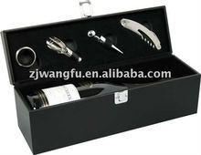 matt black wooden wine box