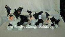 black white stuffed plush dog toys