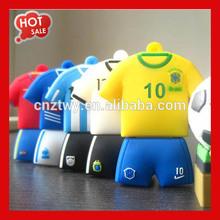 OEM football T-Shirt custom shape PVC usb 4GB,USB stick,usb flash .flash 2.0.flash stick .usb disk .usb drive.plastic usb usb2.0