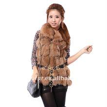 Women Fashion Genuine Fox Fur Vest
