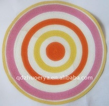 hot sale fashion natural material straw placemat