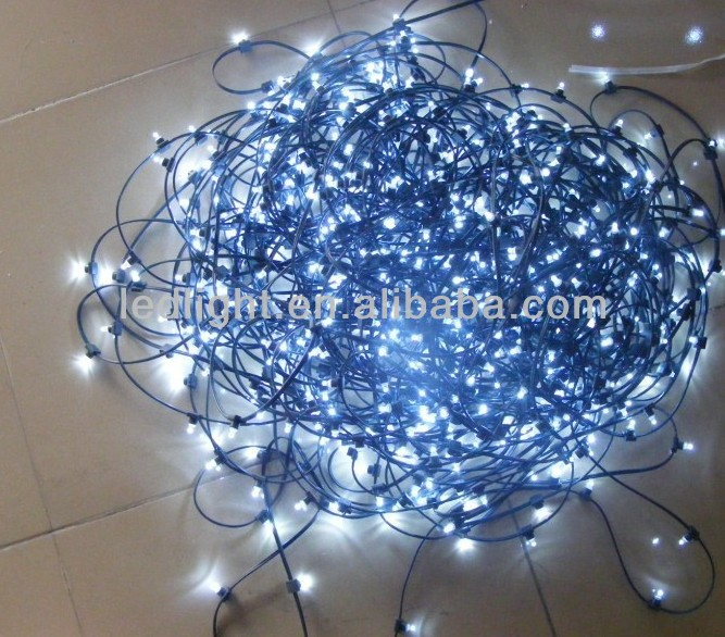 12 volt 100m led christmas clip lights Low Voltage Powered Cool White String Light Clip