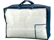 Clear PVC / PE plastic quilt bag wtih handles