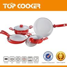 PTFA-PFOA FREE 5PCS SET Aluminum Ceramic Coated Cookware