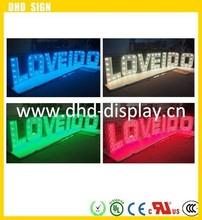 Outdoor advertising LED letter,stainless steel letter,acrylic LED light letters