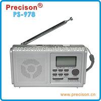 clock radio with headphone jack FM/MW/SW(1-6) 8 Band