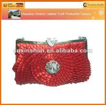 2012 satin fashion bags ladies hand purse