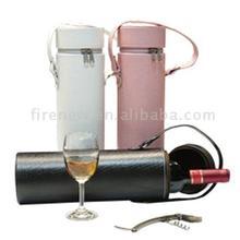 Round wine box for cheap price, good quality wine box, wine case