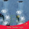 plastic solar hanging light with glass