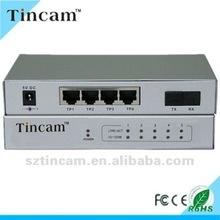 1 fiber 4 RJ45 optical ethernet switch