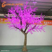 Beautiful holiday outdoor decorative lighted purple flower led tree