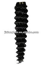 HOT SALING natural deep wave remy human hair weaving.remy hair extension