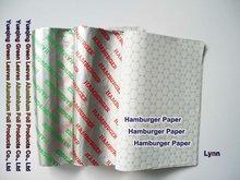Hamburger Paper wrapper