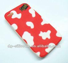 Red personalized devil design imprinted silicone skin case cover