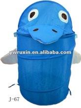 foldable laundry hamper/pop up cartoon animal shape folding storage bin