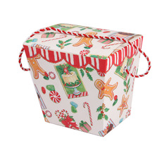 Custom made house shape gift boxes with drawstring, delicate big boxes
