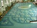 Mosaico de vidro, piscina de arte, telhas de plástico piscina