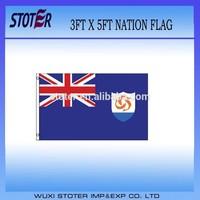 cheap polyester anguilla national flag