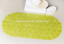 PM Stone lemon 35x70cm Anti-slip Safety PVC Suction Cup Bathroom plastic pvc rug