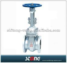 A216 wcb non rising stem flange type gate valve,OS&Y gate valve 150LB 300LB 600LB