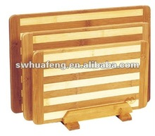 2015 wholesale bamboo stripe cutting board
