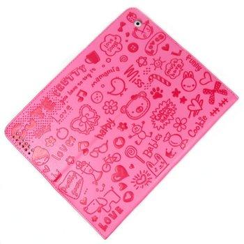 2013 Cute PU Leather Case for iPad 2 /3/4