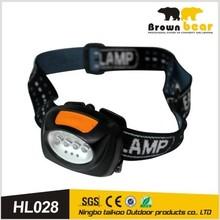 popular good price hot adjustable 4 white led 3 red led head lamp