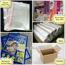 Premium impermeável 200g/220g/240g260gsm revestido de resina paperm, japão mitsubishi base de papel fotográfico