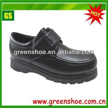 2014 hot selling children black school shoes