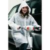 Clear Ladies Plastic Plain Foldable Waterproof PVC Cycling Rain Jacket