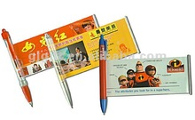 2015 hot selling cheap plastic flag roll out paper pen