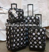 Nested 4-piece polka dot luggage wholesale