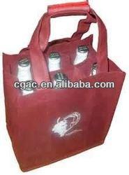 2013 non-woven 6 bottles tote bag