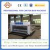 Semi-auto corrugated paperboard flexo printer rotary die cutter machine for sales /Carton chain feeding printing die cutting