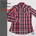 multi color rojo las mujeres guinga slim fit 2013 blusa