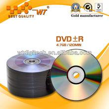 Non-Printing DVD+R 8X/16X/4.7GB/120MIN(Gold Manufacturer)