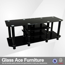 Black Glass Lcd/Plasma TV Stand