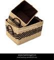 Ventas al por mayor eco- ambiente baratos hechos a mano tejido de almacenamiento de paja tejido de canasta