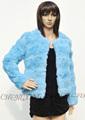 Vestes de fourrure de lapin femmes cx-g-a-189 colorée. 2014
