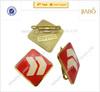 2014 high quality custom metal gold epoxy sticker metal badge