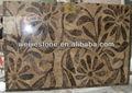 Mais recente decorativa pedra waterjet padrão de projetos, mármore jato de água de flor de design do tapete