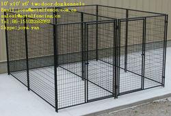10'x10'x6' two doors moduler design medium and big dog kennels