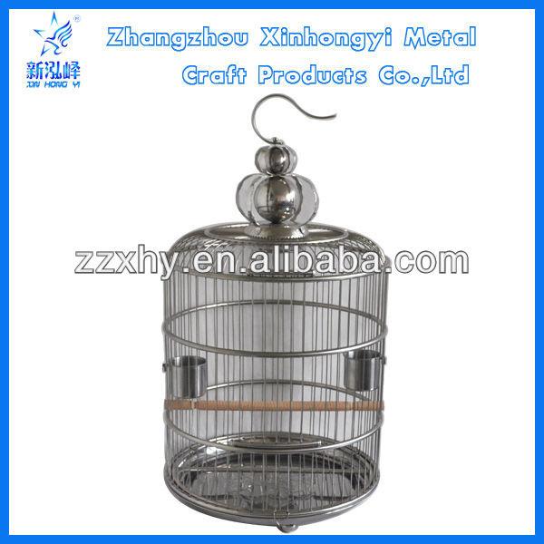 Stainless steel antique hanging bird breeding cage