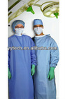 Disposable non-woven surgical gown/clothes for hospital white cotton surgical hospital gown hospital gowns for sale