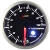 52mm super white & amber LED Tachometer gauge smoke lens with warning & peak recall