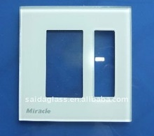 one gang one way light switch glass plate/frame
