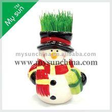 fridge magnet ,grass head ,gift for christmas ,growing grass head