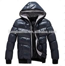Men's newest fashion hot sale soft hand feel nylon check winter jacket /coat stock