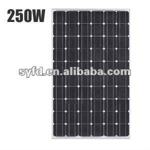 1640*992*40mm High efficiency mono 240W/250W/260W Solar panel(TUV,ISO,MCS)