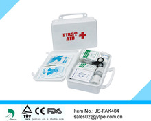 Plastic medium size complete first aid box / compact first aid kit